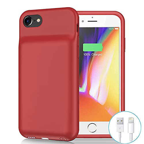 Battery Case for iPhone 6/6s/7/8/SE 2020(2nd Generation), 6500mAh Portable Rechargeable Charging Case for iPhone 6/6s/7/8/ SE 2020(2nd Generation) (4.7 inch) Extended Battery Charger Case (Red)