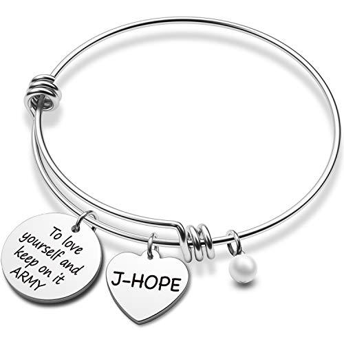 BTS Bracelet Kpop Bangtan Boys Jewelry JIMIN JK JIN RM SUGA JHOPE V Bracelet Best Gift for The Army (BR JHOPE)