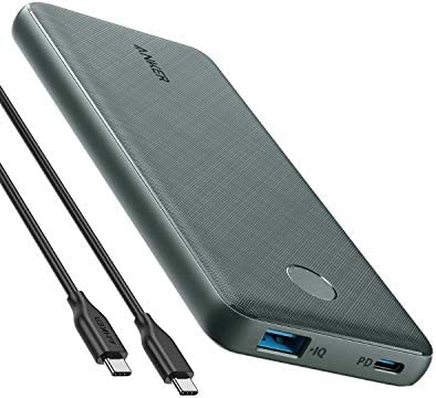 Anker PowerCore Slim 10000 PD Green 10000mAh Portable Charger USB C Power Delivery 18W Power product image