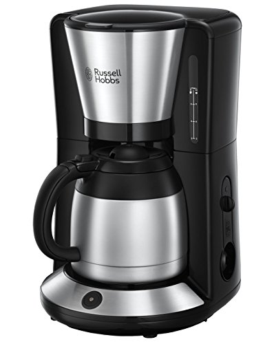 Russell Hobbs Adventure Brushed Thermo Filterkoffiezetapparaat  (incl. Thermoskan), RVS/Zwart, 8 Koppen (1L),  24020-56