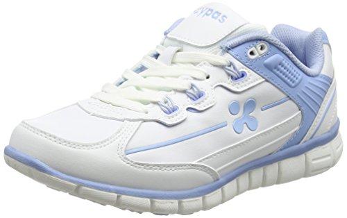 Oxypas Sunny Professionelle Arbeitsschuhe für Medizin/Pflege/Gastro, White/Blue (Light Blue), 6.5 UK (40 EU)