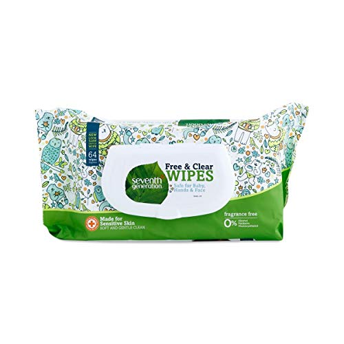 Seventh Generation Baby Wipes (64 Thick and Soft Wipes)