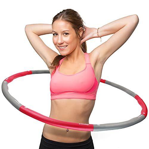 swingfit® Hula Hoop Reifen inkl. Tasche & Anleitung I Hoola Hup Reifen für Kinder & Erwachsene I Gymnastikreifen zum...