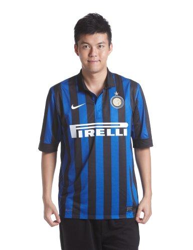 NIKE Mens Inter Milan Home Stadium Jersey [Black] (XL)