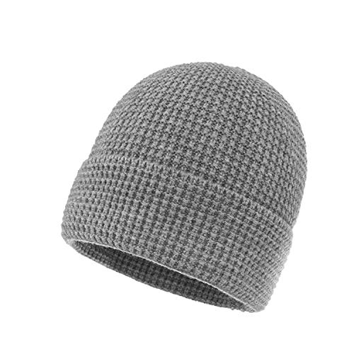 ZXCYJ 2 Pezzi Cappelli da Uomo in Lana Lavorato a Maglia da Uomo Donne Autunno e Inverno Cappello in Solido Colore Flangia di Colore Solido Tappo (Color : E, Size : 23 * 23cm)