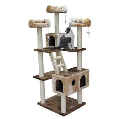 "Mix.Home Beverly Hills Cat Tree,73"" H. Best Choice for Your Pets. Kitty Posts. Cat's Stands. Best Cat Bed & Trees & Condos. Pet's Playground."