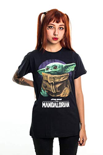 Camiseta Star Wars Baby Yoda, Piticas, Adulto e Infantil Unissex, Preto, GG