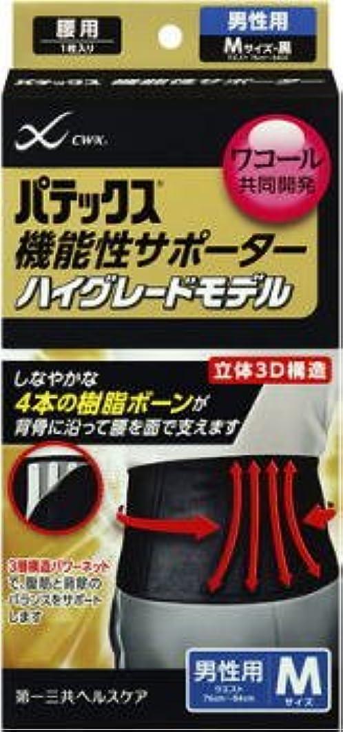 保安前置詞フェデレーションパテックス機能性サポーターハイグレードモデル 腰用サポーター Mサイズ 黒色 男性用 ウエスト76~84cm