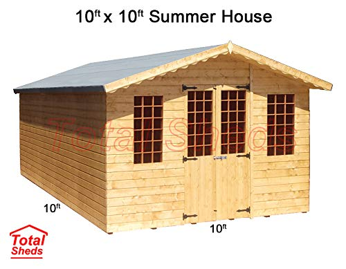 Total Sheds 10ft (3m) x 10ft (3m) Summer House Cabin Supreme Cabin