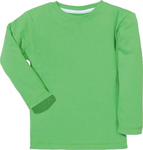 Erwin Müller Kinder-Langarmshirt Interlock-Jersey grün Größe 86/92 - angenehme Qualität, mit Rundhalsausschnitt, formtreu und weich, 100% Baumwolle (weitere Farben, Größen)