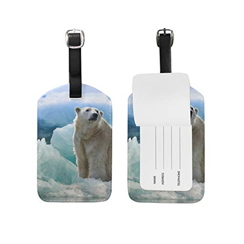 Polar Bear Penguin PU lederen Bagage Tag ID Tags visitekaartje voor Hang on Travel Bag koffer Bagage