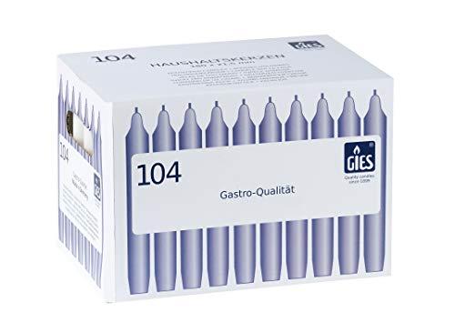 Gies 205-149001-14, 180 x 21,5 mm, 104er-Karton, Champagner Kerzen, Haushaltskerzen, 180x21,5mm