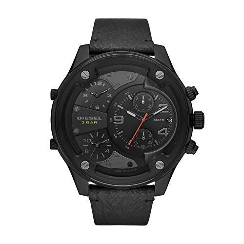 Diesel Herren Analog Quarz Uhr mit Leder Armband DZ7425