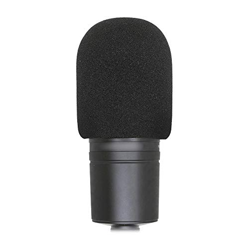 SUNMON Windscreen Foam Cover, Windscreen Pop Filter for Audiotechnica AT2020 Condenser Studio Microphone and Large Size Mic (Black)