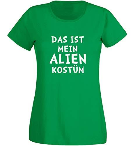T-shirt dames - Alien kostuum groen - carnaval carnaval