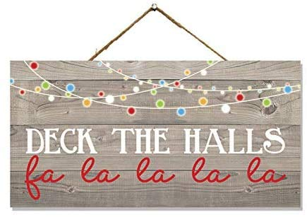 Wooden Christmas Decoration Sign, Christmas Garland, Rustic Porch Hanging Ornament, Small