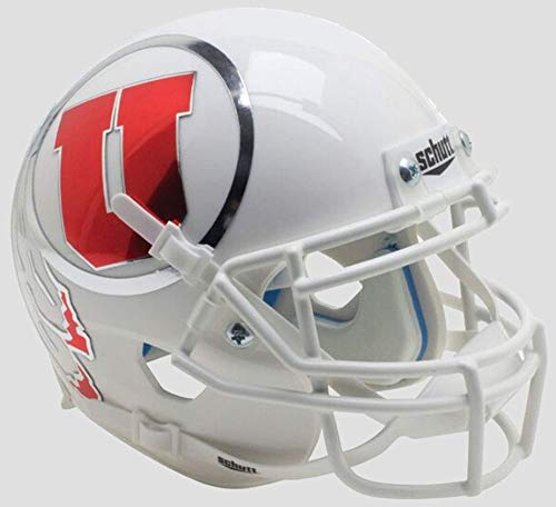 Schutt NCAA Utah Utes Mini Authentic XP Football Helmet, Oversized Alt. 14, Mini