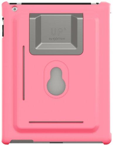 XFlat UP120P - 3in1 iPad Wandhalterung & Standfuß System für iPad mini, Farbe Schutzhülle: pink, Standfuß in 4 Positionen nutzbar für 25° oder 60° vertikal & 25° oder 60° horizontal