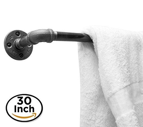 Industriële buishanddoekenrek van DIY BABA - Alleen hardware - Perfect voor: gordijnroedel, opbergbalk, kapstok & industrieel meubilair/Boerderij Decor