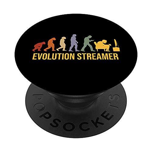 TV-Streaming Evolution TV-series Internet TV-Streamer PopSockets PopGrip Intercambiable