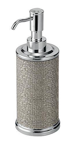 InterDesign Twillo Dosatore sapone bagno | Portasapone liquido design | Complementi arredo bagno di qualità per 354 ml di sapone liquido | Metallo argento
