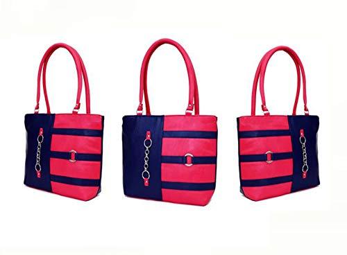 BAGSVILLA Stylish and Fashionable Handbag/Shoulder Bag/Purse For Women/Girls/Ladies (Blue/Pink)