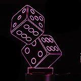 Jinson well Lámpara 3D en forma de cubo, ilusión óptica, luz nocturna, 7 cambios de color, interruptor táctil, mesa de escritorio, lámpara de acrílico, base de ABS, USB, juguete