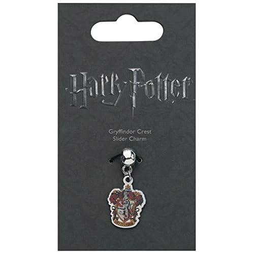 The Carat Shop, charm ufficiale di Harry Potter con stemma delle case argento Gryffindor Misura unica