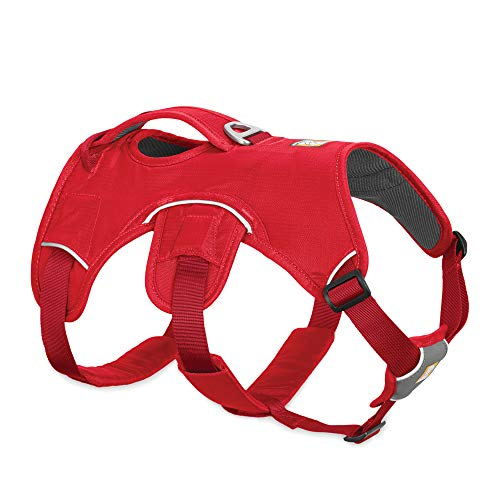 RUFFWEAR, Web Master, Multi-Use Support Dog Harness, Hiking and Trail Running, Service and Working, Everyday Wear, Red Currant, Medium
