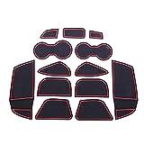 xinghui 13 unids/Set Coche Interior Cup Mat Door Gate Gate Slot Pad Caja de Almacenamiento Mat Etiquetas engomadas Ajuste para Ford Focus 3 2012 2013 2014 LHD con Logo (Color Name : White)