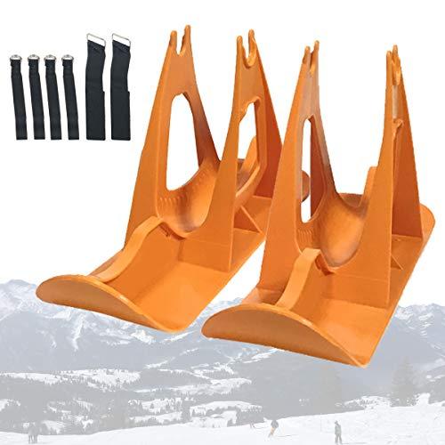 Invierno Trineo Tablero Set con 6 Correas, 12in Sin Pedal Formación Bicicleta Esquí Andador, Esquí de Invierno para Niños Competencia Trineo, Intemperie Equilibrar Las Piezas del Coche
