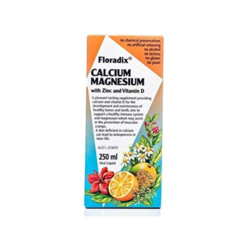 Floradix Saludynam Calcium Magnesium Zinc Liquid Supplement