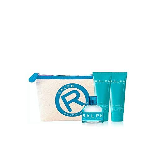 Ralph by Ralph Lauren for Women Set con Cosmetiquera de Viaje, 4 Piezas 3.4 oz/100 ml