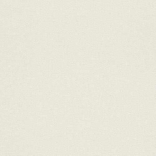rasch Tapete 449808 aus der Kollektion Florentine II – Einfarbige Vliestapete in zartem Creme – 10,05m x 53cm (L x B)