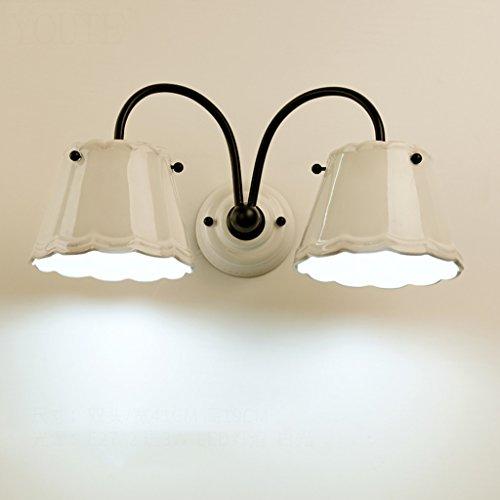 Applique murale de chambre à coucher lampe de lit céramique allée lumières (style : A)