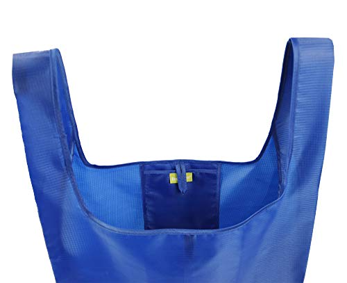 BeeGreen Reusable-Tote-Bag-Grocery-Fabric-Shopping-Large-Bags 5 Pack Reusable Gift Bags for Travel Women gilrs Ripstop Foldable Bags in Bulk Washable Lightweight