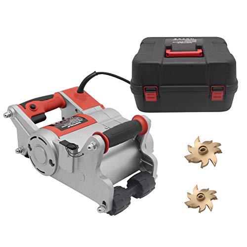 Huanyu Máquina de ranurado de ranurado de paredes 1100W Wall Chaser 2000PRM con cuchilla de aleación actualizada con capacidad de 15-30 mm de profundidad 0-35 mm de ancho (cuchilla de 25 mm)