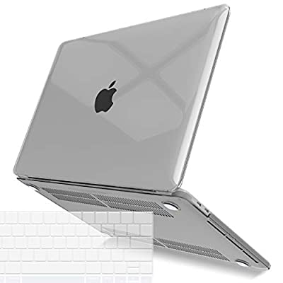 IBENZER MacBook Pro 13 Inch Case 2019 2018 2017 2016 A2159 A1989 A1706 A1708, Hard Shell Case with Keyboard Cover for Apple Mac Pro 13 Touch Bar, Crystal Clear, T13CYCL+1A
