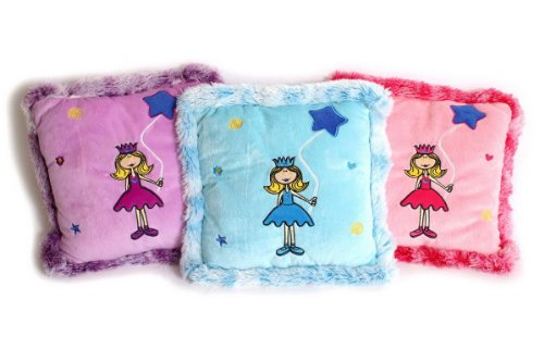 Small foot company Coussins Peluche «Princesse» (Lot de 3)