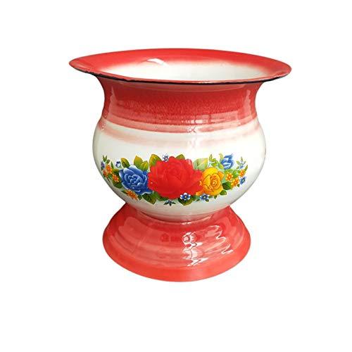 Esmalte Spittoon 1960s chino antiguo cocina y mesa decoración esmalte cuenco, champán/fruta/vegetal/exhibición (color a elegir)
