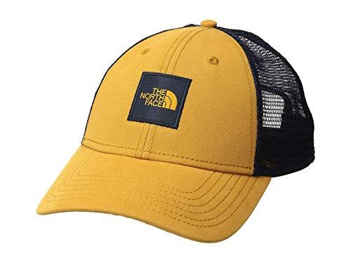 The North Face TNF Box Logo Trucker Hat Cap (Citrine Yellow/Urban Navy)