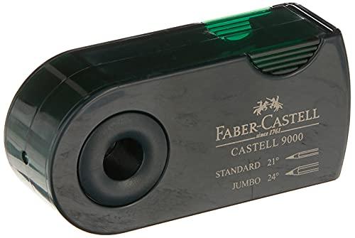 Faber-Castell 582800–Sacapuntas doble (9000, color verde