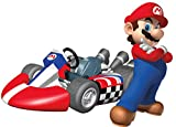 6 Inch Super Mario Kart Wii Bros Brothers Removable Wall Decal Sticker Art Nintendo 64 SNES Home Kids Room Decor Decoration - 6 by 4 1/2 inches