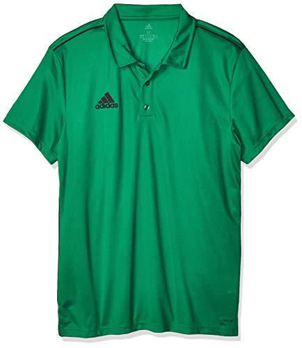 adidas Core 18 Polo Polo, Hombre, Bold Green/Black, 2XL