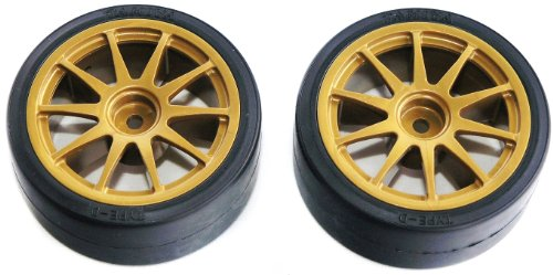 Tamiya 51219 Rc Drift Tires Type D & Wheels