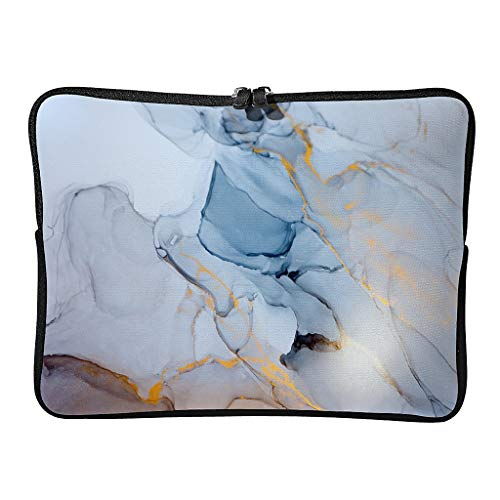 Standard Marble Texture Laptop Bags Reusable Pattern Modern Style Tablet Case Suitable for Indoor White 15 Zoll