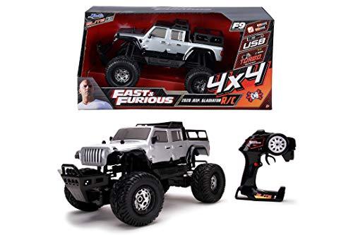 Jada Toys 253209005 Fast & Furious Jeep Gladiator, RC, ferngesteuertes Auto, 4x4, Allradantrieb, Turbo, USB...
