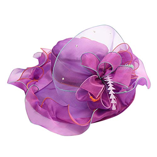 Sombrero de Bolos para Mujer, Estilo Vintage, ala Ancha, para Fiestas de té, Bodas, Reinas de cumpleaños, Elegante...