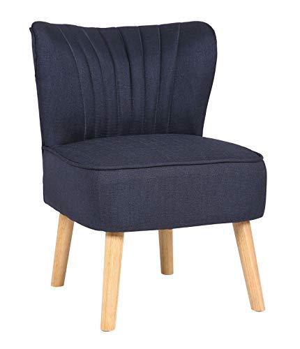 Kosoree Lounger Sevran Stoff Loungesessel Cocktailsessel Polsterstuhl Lehnstuhl Stuhl (Color : Blau)