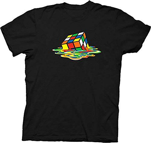 Rubik's Cube Melting Sheldon Cooper The Big Bang Theory Black T-shirt (Adult X-Large)